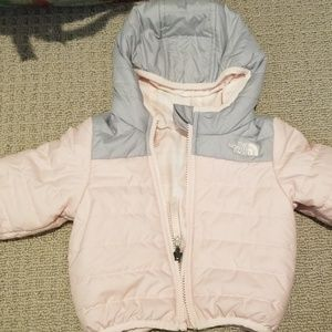 Baby girl north face reversible jacket